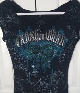EUC Crash and Burn embellished T XL